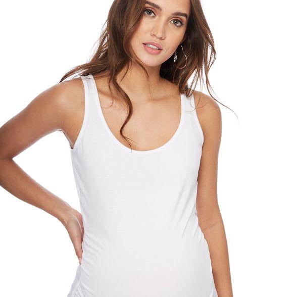 neck maternity scoop Maternity White Red vest Herring fWqpZw8nxI