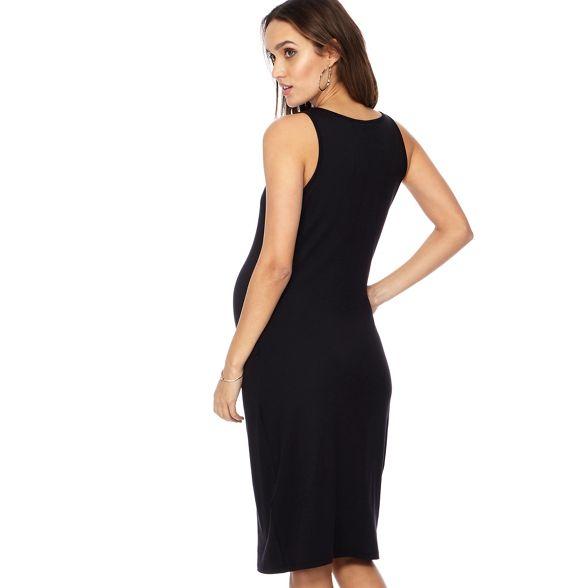 Herring Red dress maternity sleeveless scoop neck Black Maternity length knee dBd6xw4q