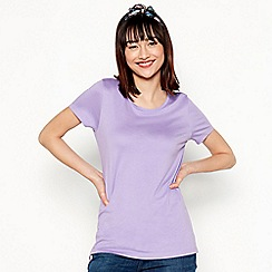 Red Herring - Purple cotton modal short sleeve t-shirt
