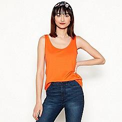 Red Herring - Orange cotton modalsleeveless vest top