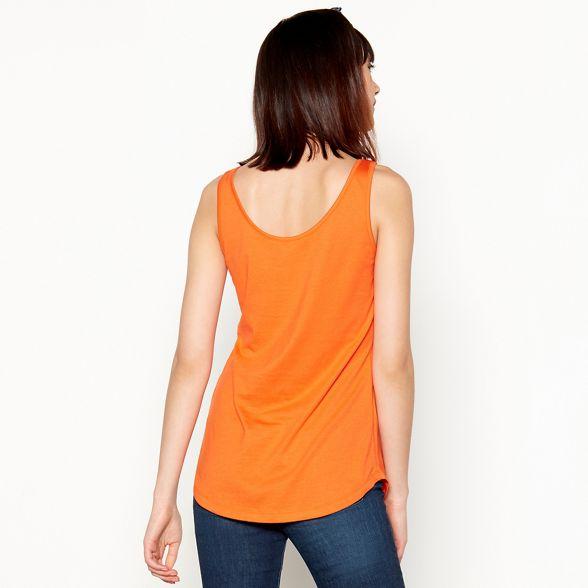 modal Herring top Red vest nbsp;sleeveless cotton Orange CFP8w71q