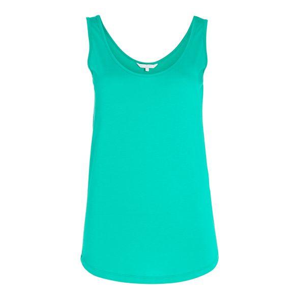 nbsp;sleeveless top modal Red Herring cotton Green vest IwqxvzUa