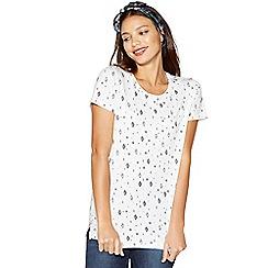 Red Herring - White diamond print t-shirt