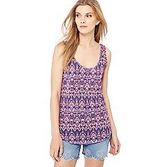 Red Herring - Purple Aztec print vest