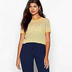 Red Herring - Mustard striped t-shirt