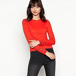 Red Herring - Orange ribbed long sleeve top