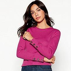 Red Herring - Purple ribbed long sleeve top