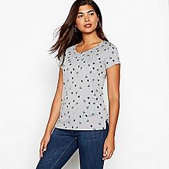 Red Herring - Grey heart print t-shirt