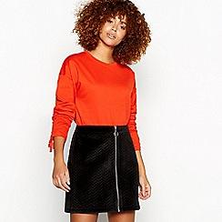 Red Herring - Orange ruched sleeve sweatshirt