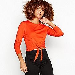 Red Herring - Orange tie front top