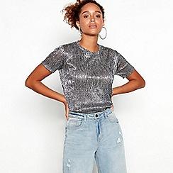 Red Herring - Silver metallic short sleeve top