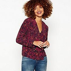 Red Herring - Purple leopard print shirt