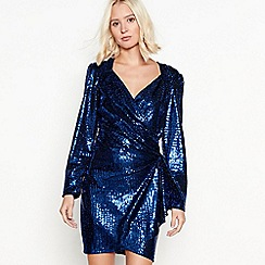 Red Herring - Blue sequin mini dress