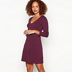 Red Herring - Plum mini skater dress