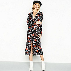 Red Herring - Multicoloured floral print midi dress