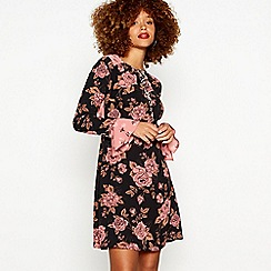 Red Herring - Multicoloured rose print mini dress