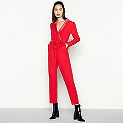 Red Herring - Red Tuxedo Jumpsuit