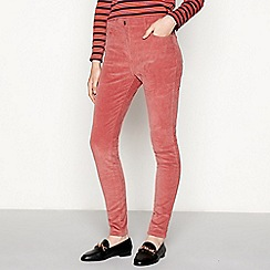 Red Herring - Rose corduroy 'Holly' skinny ankle grazer trousers