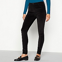 Red Herring - Black velvet 'Heidi' skinny fit trousers