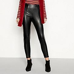 Red Herring - Black leather look leggings