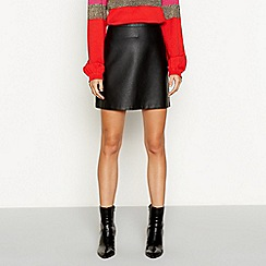 Red Herring - Black faux leather mini skirt