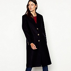 Red Herring - Navy single breasted city coat