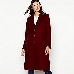 Red Herring - Burgundy single breasted city coat