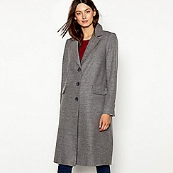 Red Herring - Grey single breasted city coat