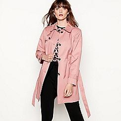 Red Herring - Dark pink skater mac coat