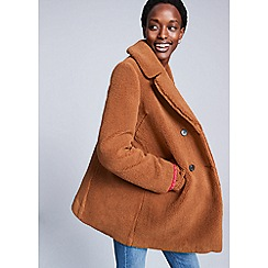 Red Herring - Camel borg teddy coat