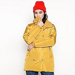 Red Herring - Mustard Yellow Puffer Coat