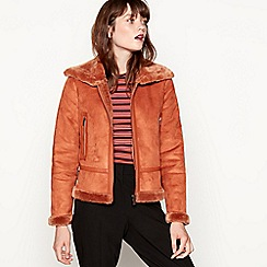 Red Herring - Tan shearling aviator