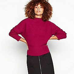 Red Herring - Pink moss knit jumper