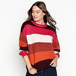 Red Herring - Dark tan stripe print long sleeve jumper