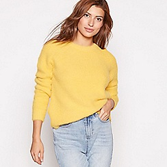 Red Herring - Dark yellow shimmer eyelash knit jumper