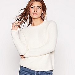 Red Herring - Ivory shimmer eyelash knit jumper