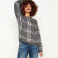 Red Herring - Grey striped knit jumper