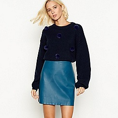 Red Herring - Navy pom pom jumper