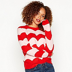 Red Herring - Pink two-tone colour block jumper