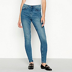 Red Herring - Mid blue mid wash 'Mila' high waisted skinny jeans