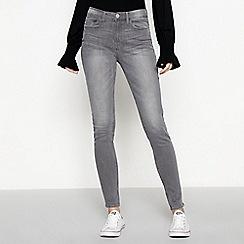 Red Herring - Grey stripe 'Mila' high waisted skinny jeans