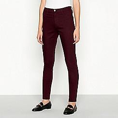 Red Herring - Wine red 'Heidi' high waisted skinny jeans
