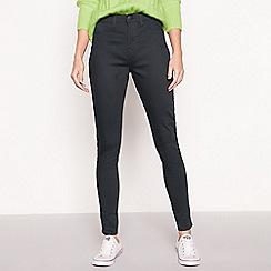 Red Herring - Dark green high waisted 'Heidi' skinny jeans