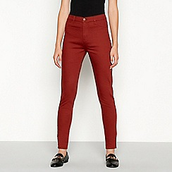 Red Herring - Terracotta 'Heidi' high waisted skinny jeans