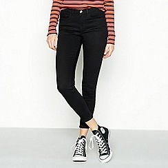 Red Herring - Black mid-rise 'Holly' skinny jeans