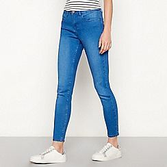 Red Herring - Bright blue mid wash 'Holly' ankle grazer skinny jeans