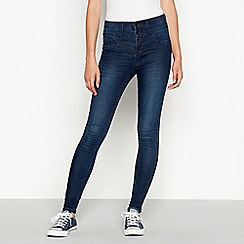 Red Herring - Dark blue dark wash 'Carly' waist enhancer skinny jeans