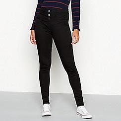 Red Herring - Black waist enhancer 'Carly' skinny jeans