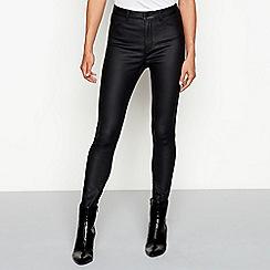 Red Herring - Black coated skinny jeans