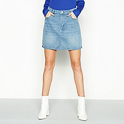 Red Herring - Blue denim mini skirt